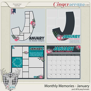 Monthly Memories - January by Dear Friends Designs by Trina