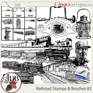 Heritage Resource - Vintage Railroad Stamps Vol 2 by ADB Designs