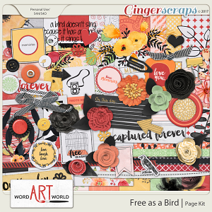 Free as a Bird Page Kit