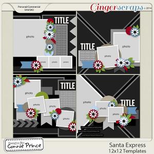 Santa Express - 12x12 Templates (CU Ok)