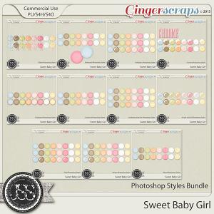 Sweet Baby Girl Photoshop Styles Bundle