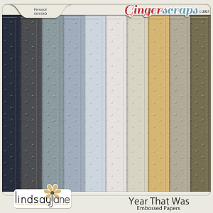 Year That Was Embossed Papers by Lindsay Jane