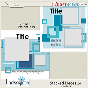 Stacked Pieces 24 Templates by Lindsay Jane