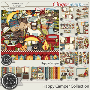 Happy Camper Digital Scrapbooking Bundle