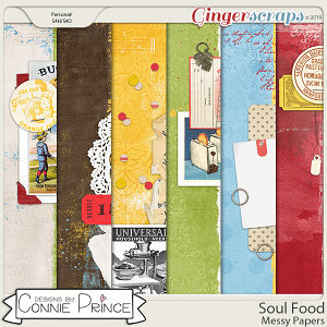 Soul Food - Messy Papers by Connie Prince