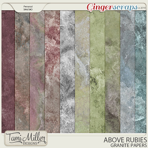 Above Rubies Granite Papers by Tami Miller Designs