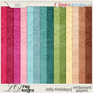 Jolly Holidays: Embossed Papers by LDragDesigns