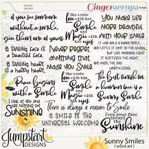 Sunny Smiles {Word Art} by Jumpstart Designs