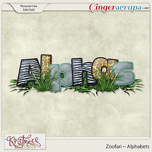 Zoofari Alphabets