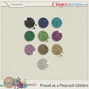 Proud As A Peacock Glitters by JoCee Designs