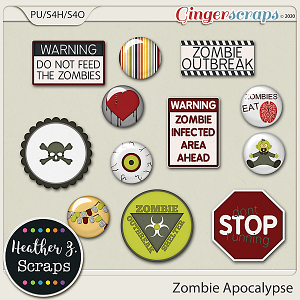 Zombie Apocalypse EXTRAS by Heather Z Scraps
