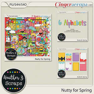 Nutty for Spring BUNDLE by Heather Z Scraps