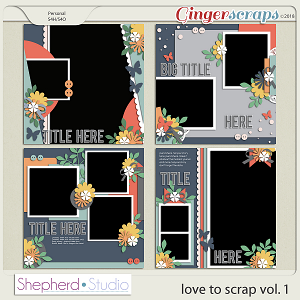 Love to Scrap Volume 1 Templates by Shepherd Studio