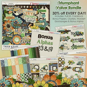 Triumphant Value Bundle by Trixie Scraps Designs