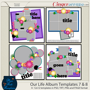 Our Life Templates 7 & 8 by Miss Fish Templates