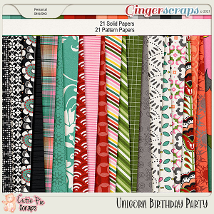 Unicorn Birthday Party Papers