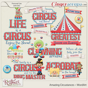 Amazing Circustances WordArt