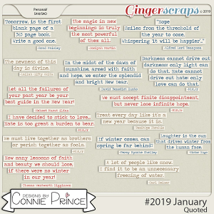 #2019 January - Quoted Pack by Connie Prince
