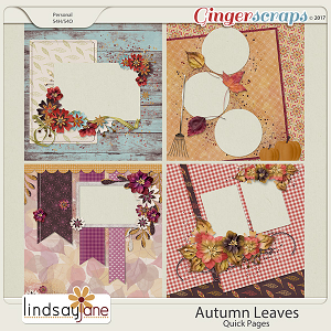 Autumn Leaves Quick Pages by Lindsay Jane