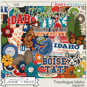Travelogue Idaho - Kit by Connie Prince