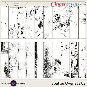 Spatter Overlays 02 by Karen Schulz