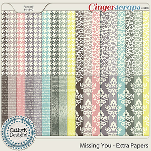 Missing You - Extra Papers by CathyK Designs