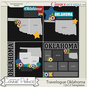 Travelogue Oklahoma - 12x12 Temps (CU Ok) by Connie Prince
