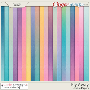 Fly Away - Ombre Papers - by Neia Scraps