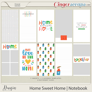 Home Sweet Home   Traveler's Notebook by Dunia Designs