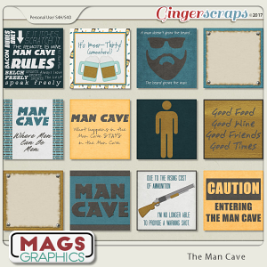 The Man Cave JOURNAL CARDS Pack by MagsGraphics