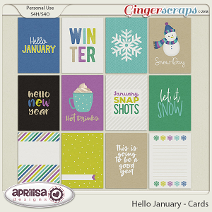 Hello January - Cards