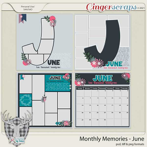 Monthly Memories - June by Dear Friends Designs by Trina
