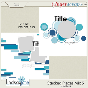 Stacked Pieces Mix 5 Templates by Lindsay Jane