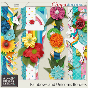 Rainbows and Unicorns Borders by Aimee Harrison