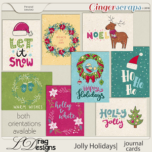 Jolly Holidays: Journal Cards by LDragDesigns