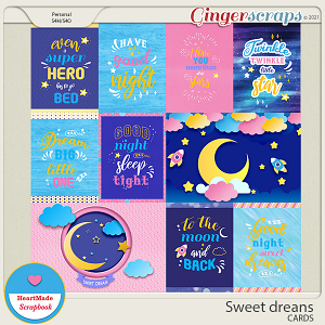 Sweet dreams - cards