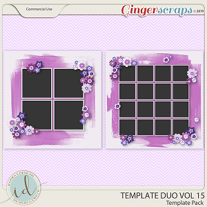 Template Duo Vol 15 by Ilonka's Designs