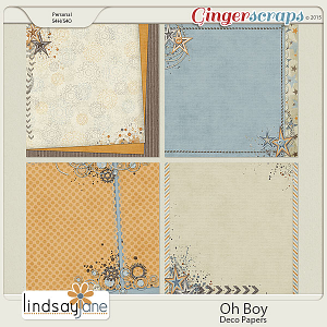 Oh Boy Deco Papers by Lindsay Jane
