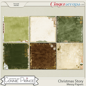 Christmas Story - Messy Papers by Connie Prince