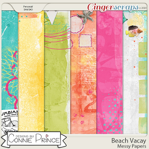 Beach Vacay - Messy Papers by Connie Prince