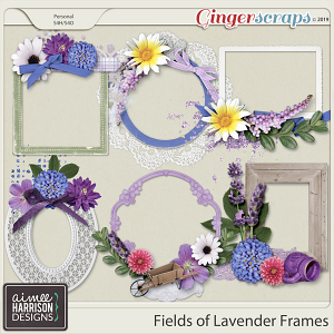 Fields of Lavender Frame Clusters by Aimee Harrison