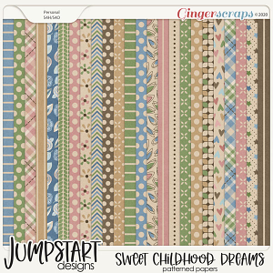 Sweet Childhood Dreams {Patterned Papers}