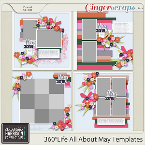 360°Life All About May Templates by Aimee Harrison