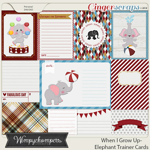 When I Grow Up- Elephant Trainer-cards