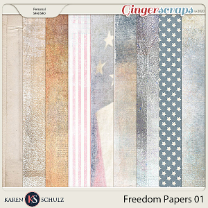Freedom Paper Pack 1 by Karen Schulz