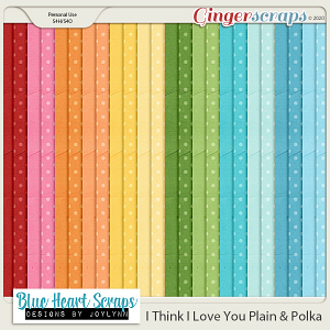 I Think I Love You Plain and Polka Papers