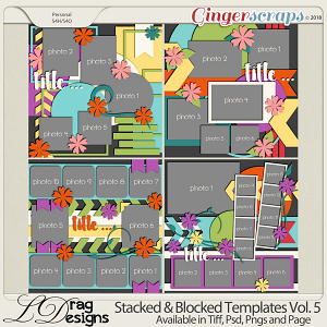 Stacked & Blocked Templates Vol. 5 by LDrag Designs