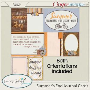 Summer's End Journal Cards