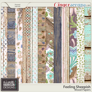 Feeling Sheepish Wood Papers by Aimee Harrison