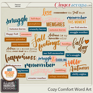 Cozy Comfort Word Art by Aimee Harrison and JB Studio